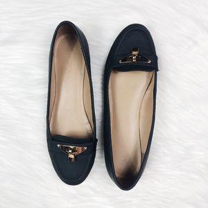 [ALDO] Black Slip On Loafer Shoes